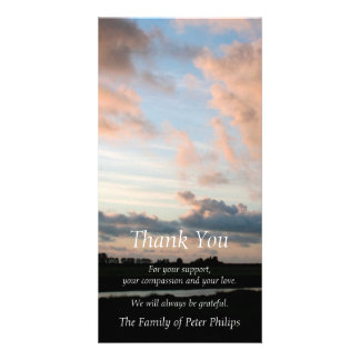 At Sunset - Peaceful Sky -3- Sympathy Thank You Photo Card