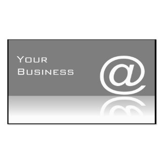 ' @ 'At Symbol Technology Business Card - Grey