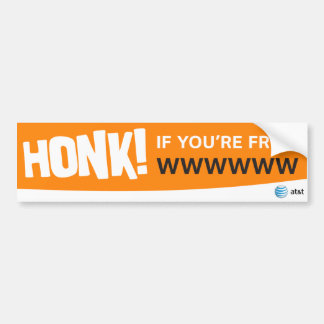 AT&T honk if stickers Car Bumper Sticker