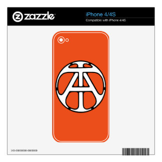 AT / TA Monogram Skin For iPhone 4S