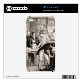 At the Bank, c.1800 (engraving) Decals For iPhone 4