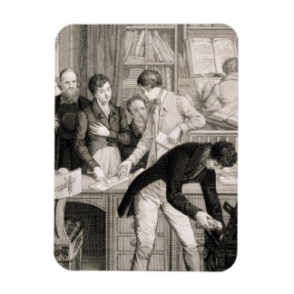 At the Bank, c.1800 (engraving) Magnet