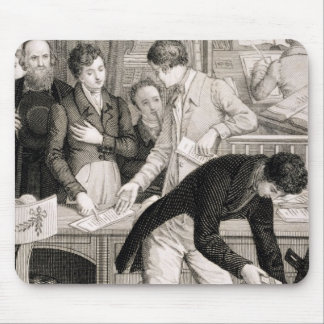 At the Bank, c.1800 (engraving) Mouse Pad