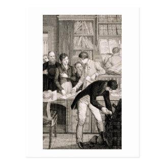 At the Bank, c.1800 (engraving) Postcard