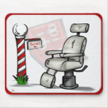 At The Barber Shop Mouse Pad
