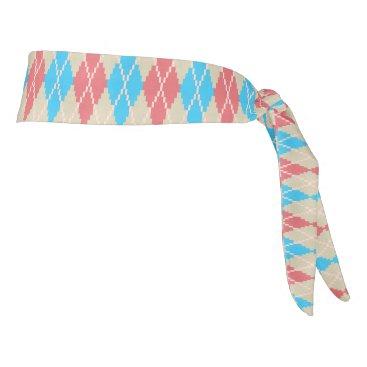 Beach Themed At the Beach Argyle Athletic Headband Tie Headband