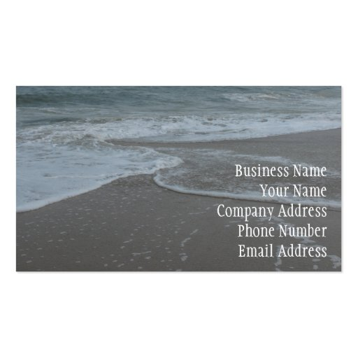 At the Beach Business Card