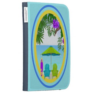At The Beach Caseable Kindle Folio Cases For Kindle