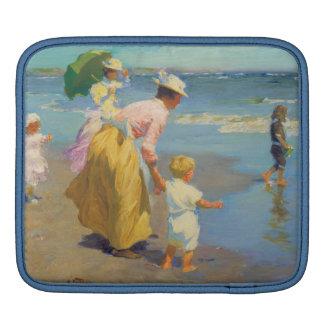 At The Beach - Edward Potthast iPad Sleeve