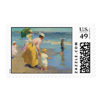 At The Beach - Edward Potthast Postage