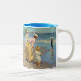 At The Beach - Edward Potthast Two-Tone Coffee Mug