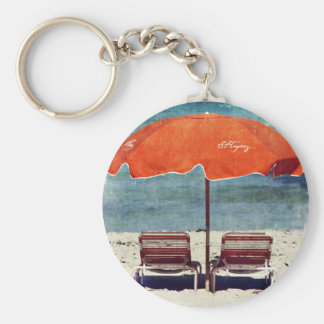 at the beach keychain