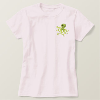 At the Beach Octopuss Embroidered Shirt