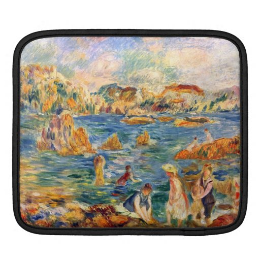 At the beach of Guernesey by Alfred Sisley iPad Sleeve