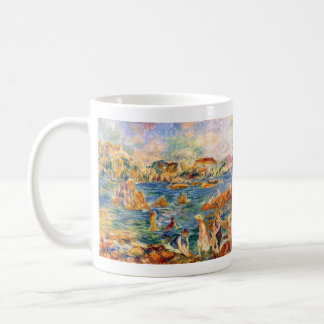 At the beach of Guernesey by Alfred Sisley Mugs