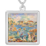 At the beach of Guernesey by Alfred Sisley Custom Jewelry