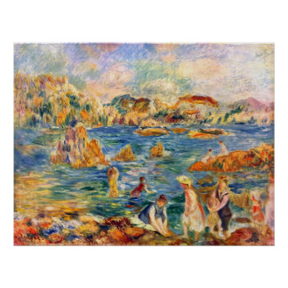 At the beach of Guernesey by Alfred Sisley Poster