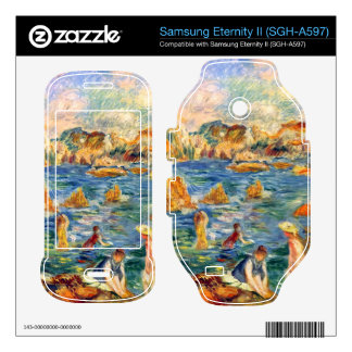 At the beach of Guernesey by Alfred Sisley Samsung Eternity II Skin