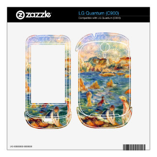 At the beach of Guernesey by Alfred Sisley Skin For The LG Quantum