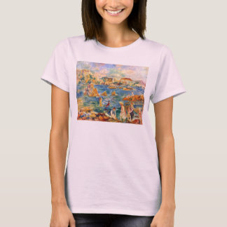 At the beach of Guernesey by Alfred Sisley T-Shirt