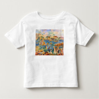 At the beach of Guernesey by Alfred Sisley Tshirt