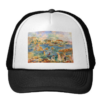 At the beach of Guernesey by Pierre Renoir Trucker Hat