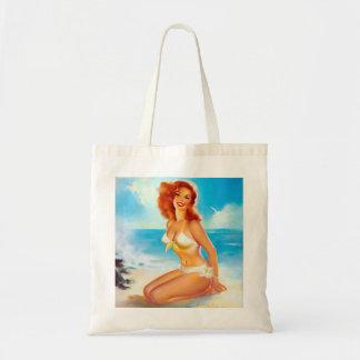 At the Beach Pin Up Tote Bag