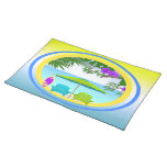 At The Beach Placemat Cloth Placemat