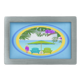 At The Beach Rectangle Belt Buckle
