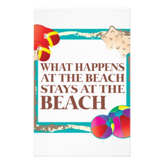 At The Beach Stationery