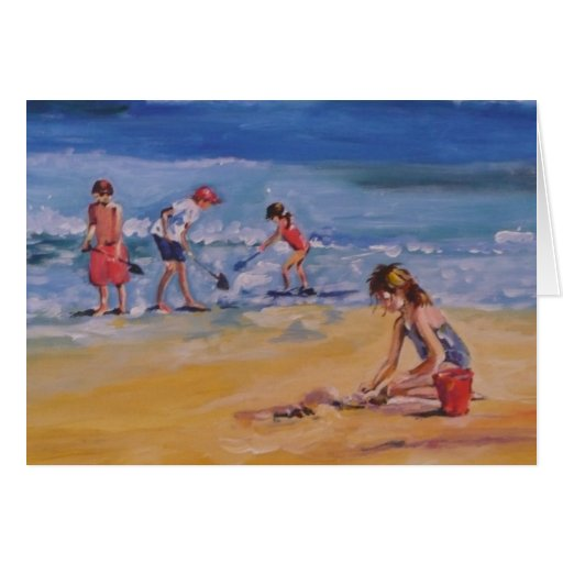 At the beach stationery note card