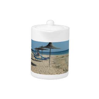At the beach teapot