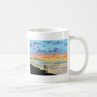 At the beach with Granpa beach sunset painting Coffee Mug