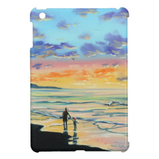 At the beach with Granpa beach sunset painting iPad Mini Cover