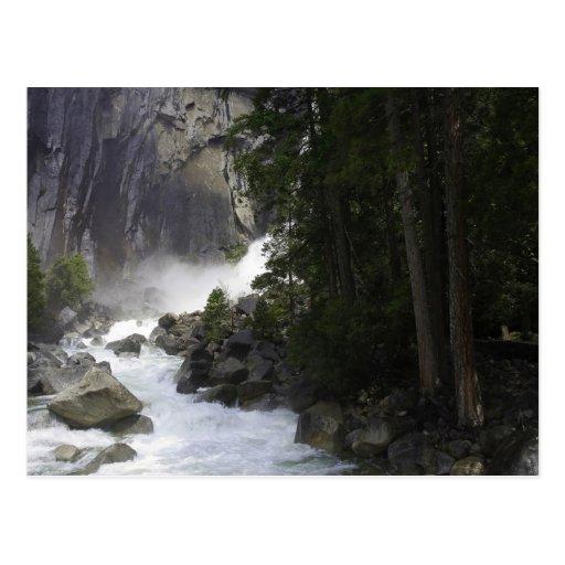 At the bottom of Yosemite Falls Postcard