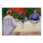 At the Breakfast Table 1910 Card