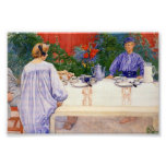 At the Breakfast Table 1910 Photo Print