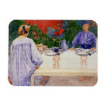 At the Breakfast Table 1910 Vinyl Magnet