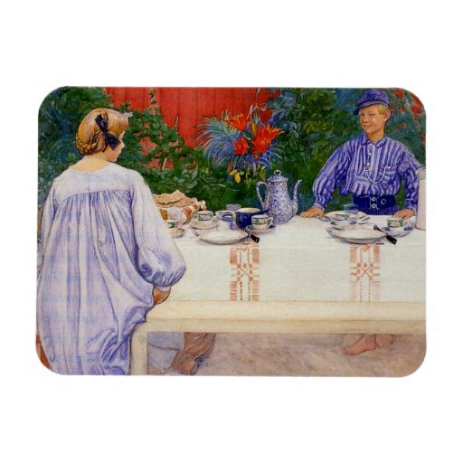 At the Breakfast Table 1910 Vinyl Magnet