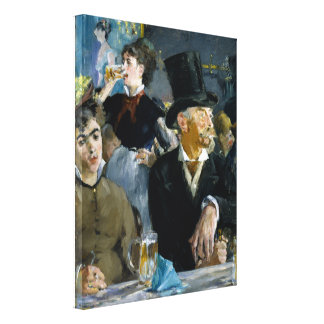 At the Cafe by Edouard Manet Canvas Prints