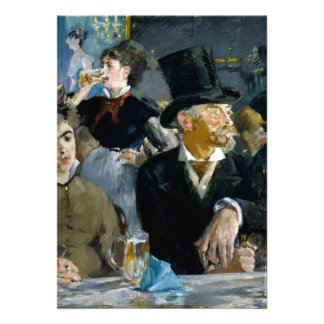 At the Cafe by Edouard Manet Card