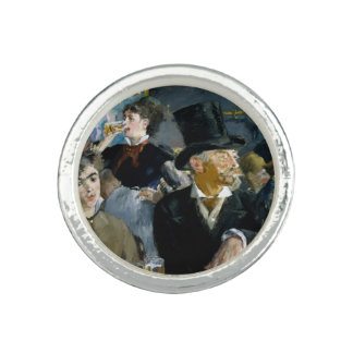 At the Cafe by Edouard Manet Photo Ring