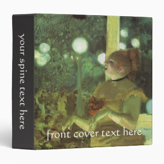 At the Cafe Concert: The Song of the Dog by Degas 3 Ring Binders