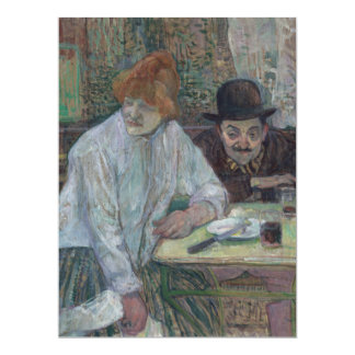 At the Cafe La Mie by Henri de Toulouse-Lautrec Card