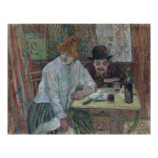 At the Cafe La Mie by Toulouse-Lautrec Canvas Poster