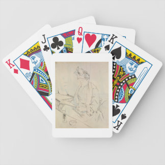 At the Cafe (pencil & ink on paper) Bicycle Playing Cards