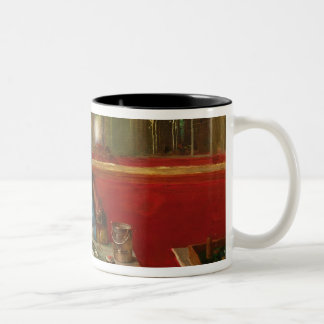 At the Cafe Two-Tone Coffee Mug