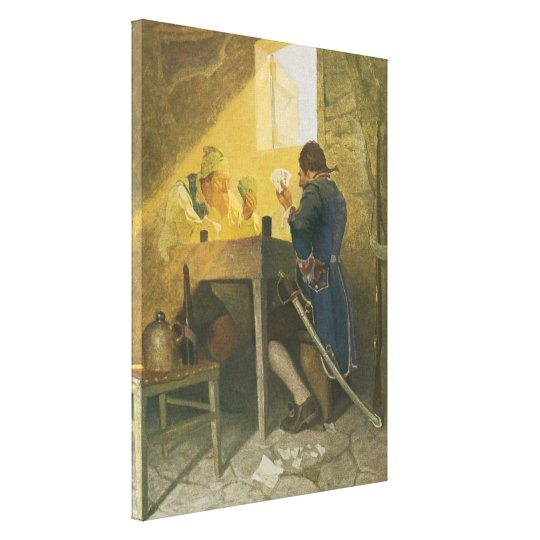 At the Cards in Cluny's Cage by NC Wyeth Canvas Print