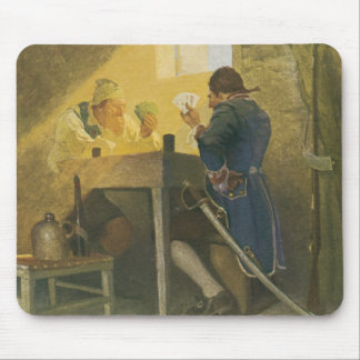 At the Cards in Cluny's Cage by NC Wyeth Mouse Pad