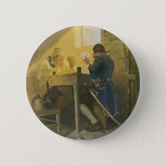 At the Cards in Cluny's Cage by NC Wyeth Pinback Button
